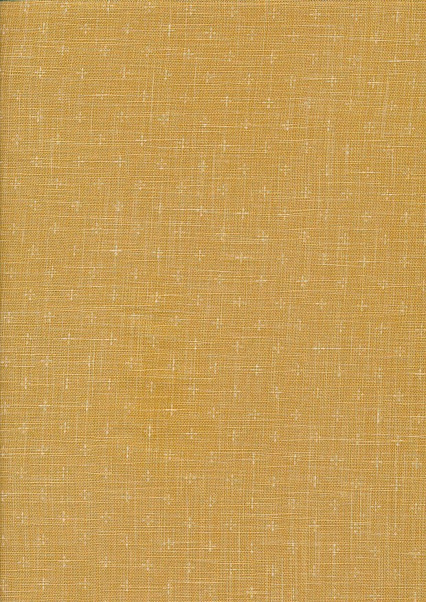 Sevenberry Japanese Linen Look Cotton - Plain Tan With Cross