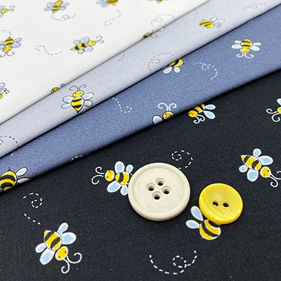 Andover Fabrics - Bumble Bee, Freckle Dot & Spot