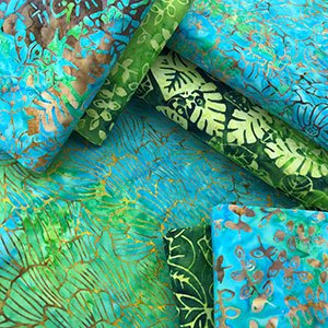 Blue, Green & Brown Bali Batiks