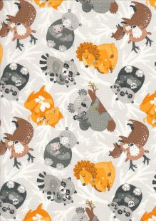 3 Wishes - Animal Hugs Light Grey 15047