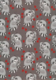 3 Wishes - Animal Hugs Dark Grey 15042