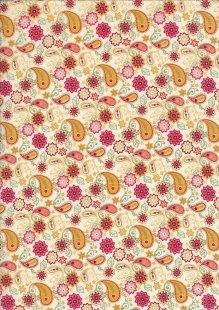 Pima Cotton Lawn - Yellow Ditsy Paisley