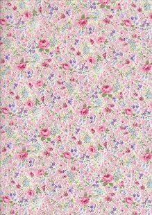 Pima Cotton Lawn - Pink Dog Rose