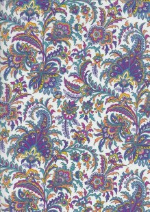 Pima Cotton Lawn - Purple India Block