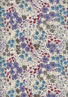 Pima Cotton Lawn - Purple Flower Craft