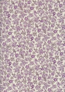 Pima Cotton Lawn - Purple Ditsy Rose