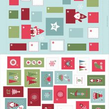 Lucky Dip Panel - 5 x 60cm Christmas Panels