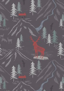 Lewis & Irene - The Glen A86.2 - Royal stag on slate grey