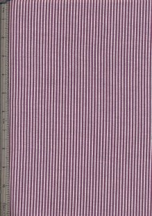 Printed Twill - Purple Stripe