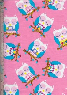 Twit Twoo Owls - D#2476 Pink