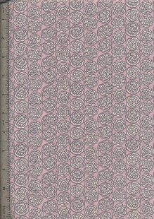 Liberty Fine Corduroy Floral - Pink With Grey Robe
