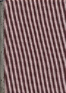 Printed Twill - Burgundy Stripe