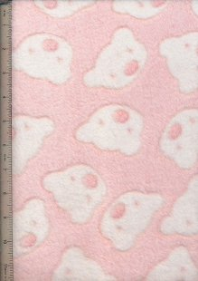 Super Soft Cuddle Fleece - Baby Pink Teddies