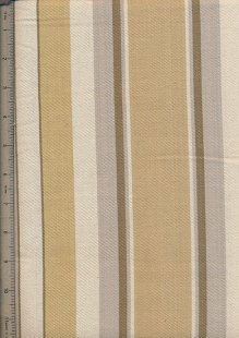 Canvas Ticking  - Wide Brown & Cream