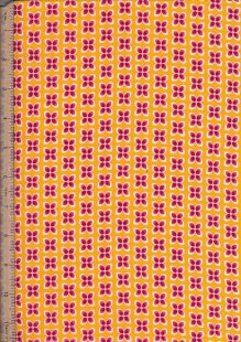 "John Louden 60"" Wide Fabric - Mini Floral On Yellow"