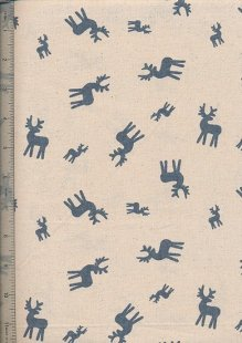 John Louden - Scandi Christmas Natural Blue Reindeer