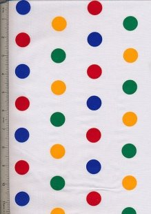 Poly Cotton Novelty - White Spots