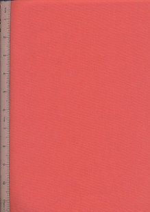 Plain Cotton Fabric - 56 Coral
