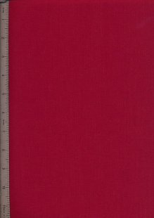 Poly Cotton Plain - Wine Red