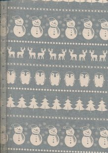 John Louden Scandi Christmas - Cream On Grey H