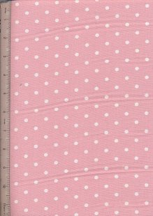 Linen Look Cotton - Small White Spot Pink