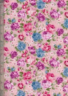 Quality Cotton Print - Vintage Summer Rose Pink