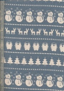 John Louden Scandi Christmas - Cream On Blue H