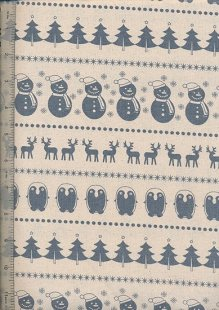 John Louden Scandi Christmas - Blue On Cream H