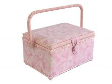 Medium Sewing Box - Pink Silhouette Butterflies GB981