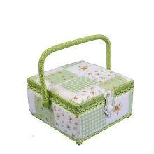 Small Sewing Box - Green Patchwork MVS/08