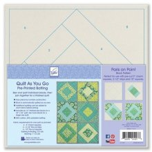 Quilt as you go 80/20 Cotton Blend - Paris on Point
