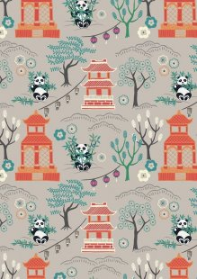 Lewis & Irene - Minshan A116-2 Panda temple on light grey