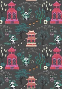 Lewis & Irene - Minshan A116-3 Panda temple on dark grey