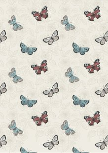 Lewis & Irene - The Botanist A125-1 Cream butterfly sketch