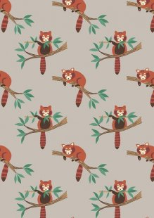 Lewis & Irene - Minshan A118-2 Red panda on light grey