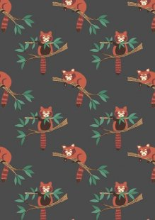 Lewis & Irene - Minshan A118-3 Red panda on dark grey