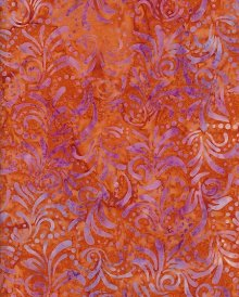 Fabric Freedom Bali Batik - Orange 3