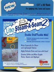Lite Steam-A-Seam 2 Lightweight Fusible Web Tape 1/2 x 20 yds