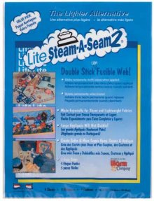 Lite Steam-A-Seam 2 Lightweight Fusible Web Sheets 9 x 12 inches pack of 5