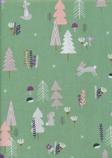 Andover Fabrics Forest Talk By Cathy Nordstrom - Forest Talk Green A8485-G