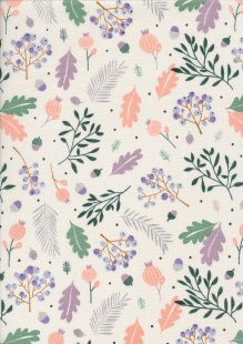 Andover Fabrics Forest Talk By Cathy Nordstrom - Pine Cream Green A8486-GL