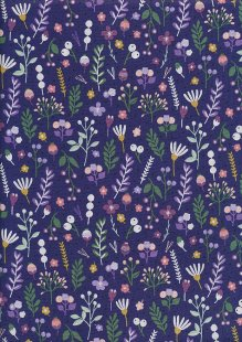 Andover Fabrics Forest Talk By Cathy Nordstrom - Mountain Flora Purple A8488-GP