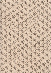 Andover Fabrics By Kathy Hall & Margo Krager - Floral Vine Mocha