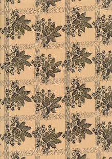 Andover Fabrics By Kathy Hall & Margo Krager - Brown Leaf Gold