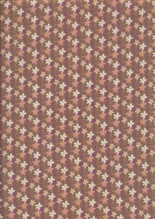 Fabric Freedom Oriental Floral - Col 1 FF261 Purple