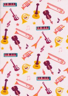 Fabric Freedom Sound of Music - Col 1 FF211 Pink