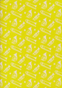 Fabric Freedom Sound of Music - Col 2 FF212 Yellow