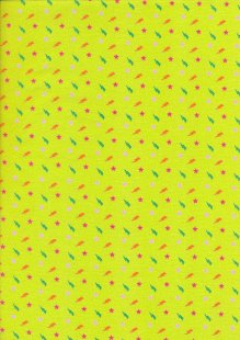 Fabric Freedom Sound of Music - Col 2 FF215 Lime Green