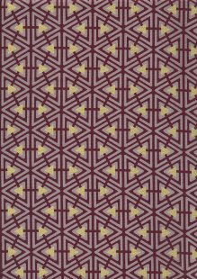Andover Fabrics Gilded Designs By Lizzy House & Lonni Rossi - Interlaced Triangles Aubergine