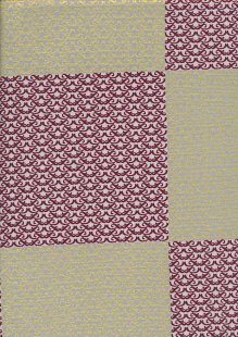 Andover Fabrics Gilded Designs By Lizzy House & Lonni Rossi - Interlaced Squares Grey